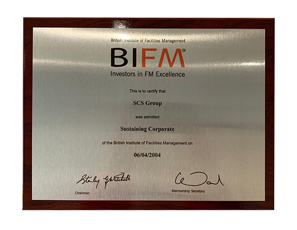 British institute of facility management award plaque