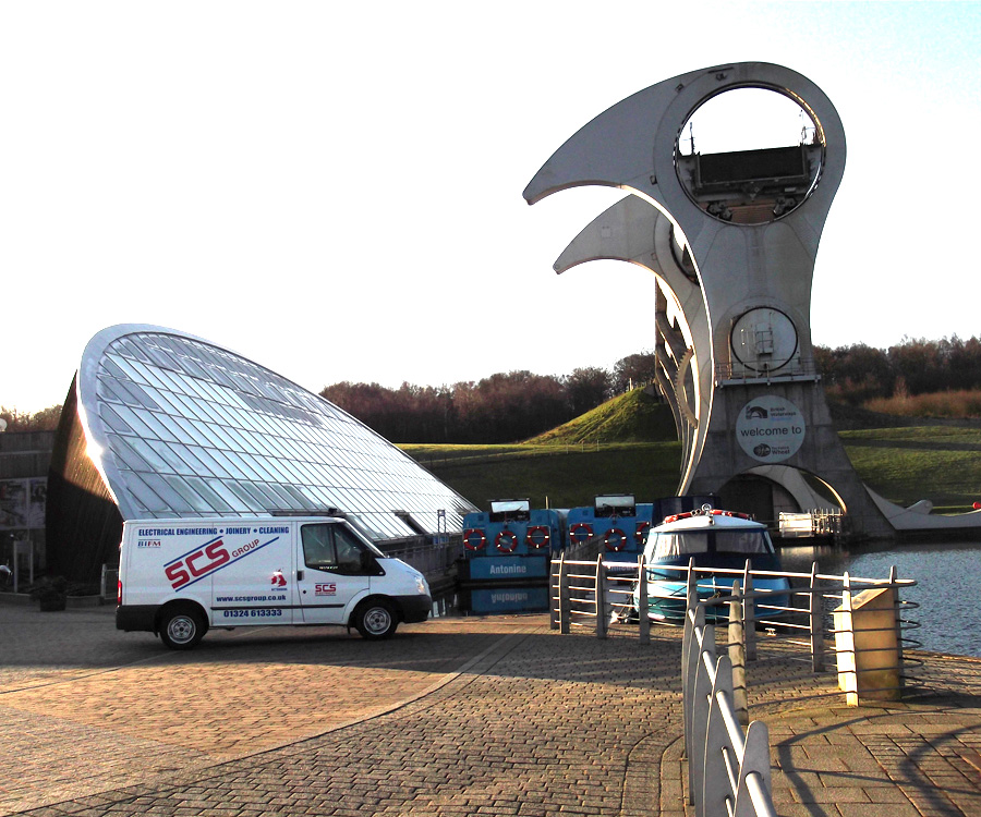 graphic of the Falkirk wheel