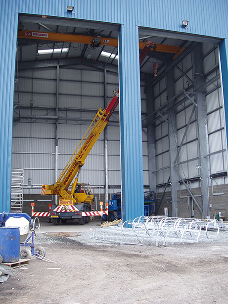 image of a construction crane used by SCSv