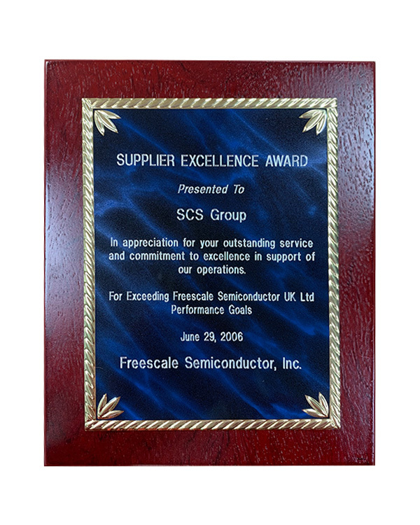 freescale award plaque