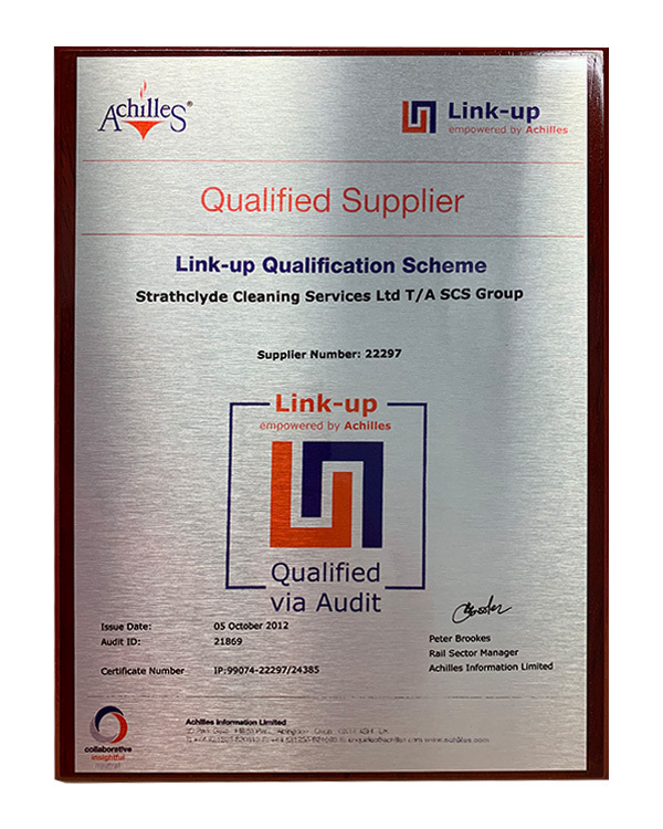 Linkup award plaque